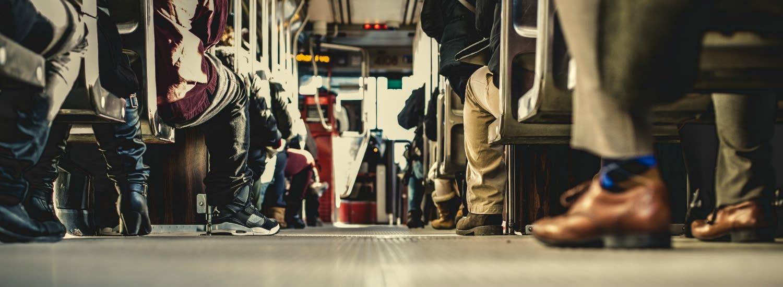 feet on bus