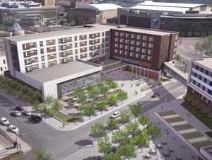 Rendering of the new Catholic Charities facilities