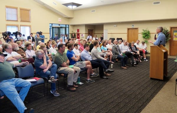 About 75 people attended Congressman Erik Paulsen's town hall in Hamel.