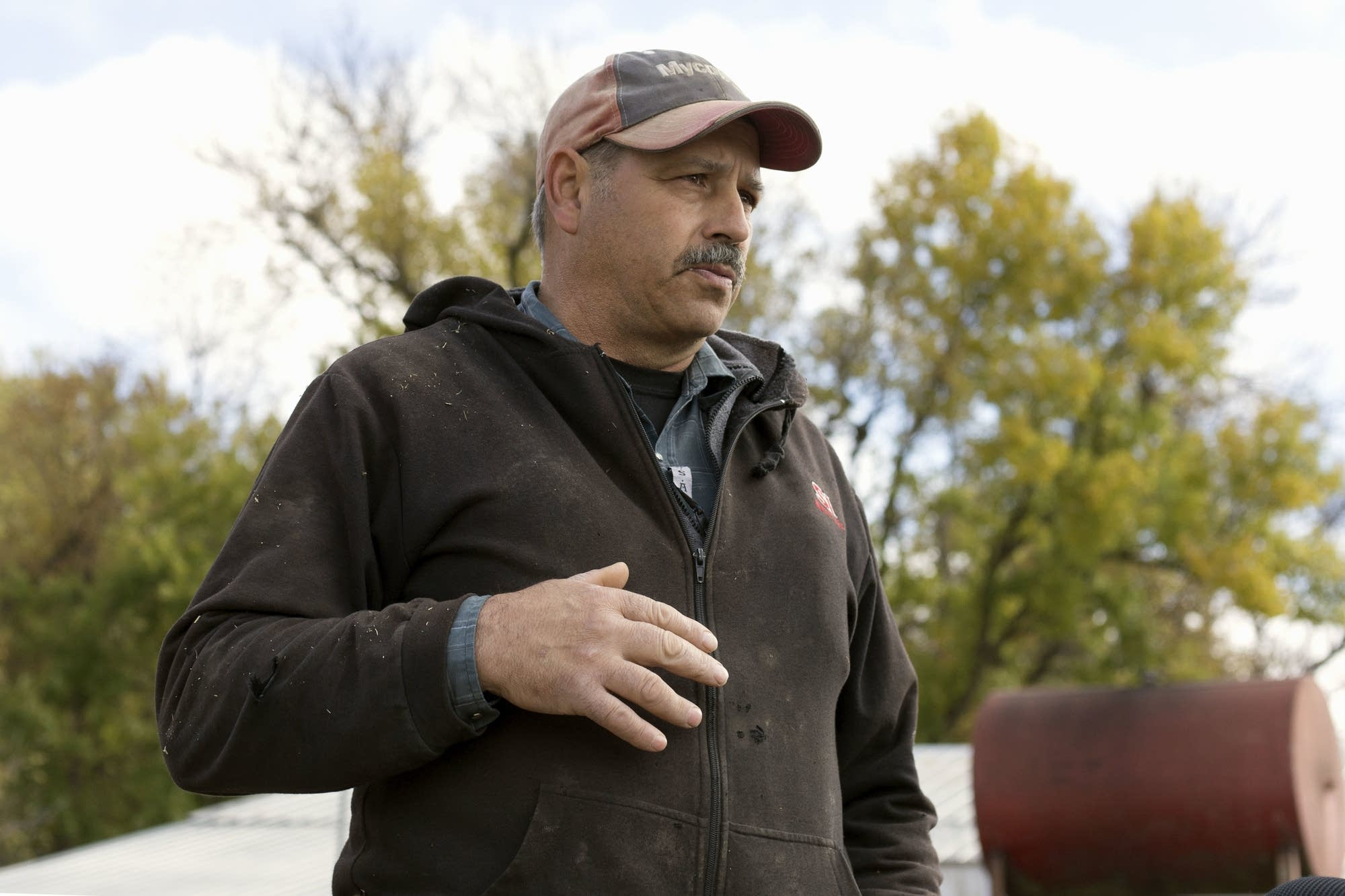Weather affected the harvest of farmer John Schafer's crops this season.