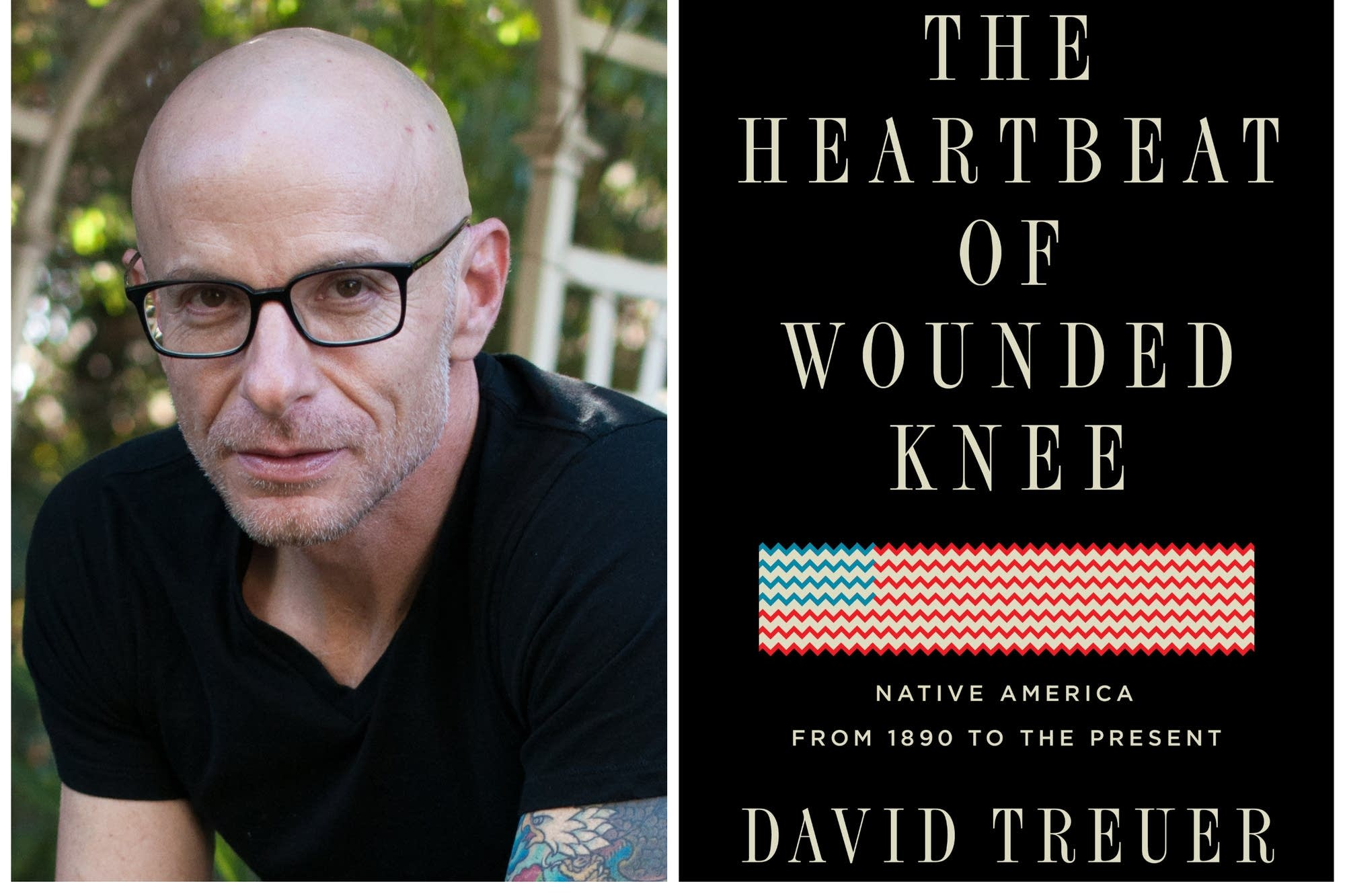 "Author David Treuer and his book ""The Heartbeat of Wounded Knee."""