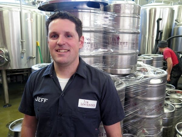 Jeff Moriarty, a founder of Tin Whiskers Brewing.