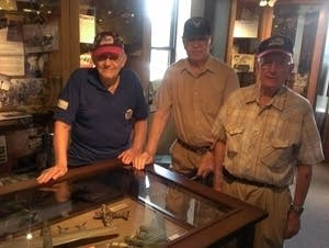 Three Luverne veterans visited the Herreid Military Museum