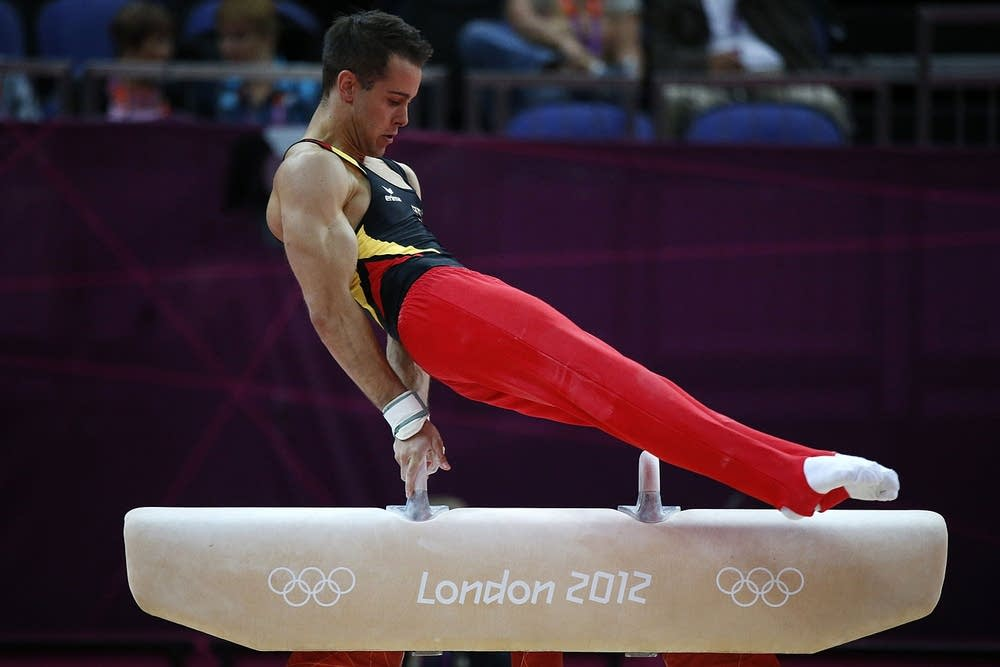 Germany's gymnast Sebastian Krimmer comp