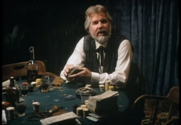 "Kenny Rogers in his video for ""The Gambler"""