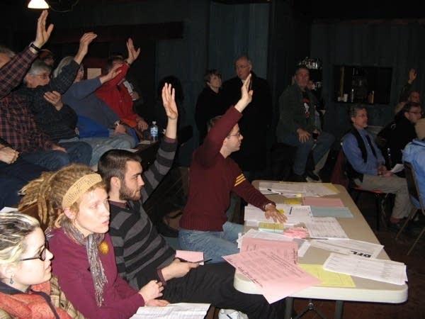 Delegate volunteers