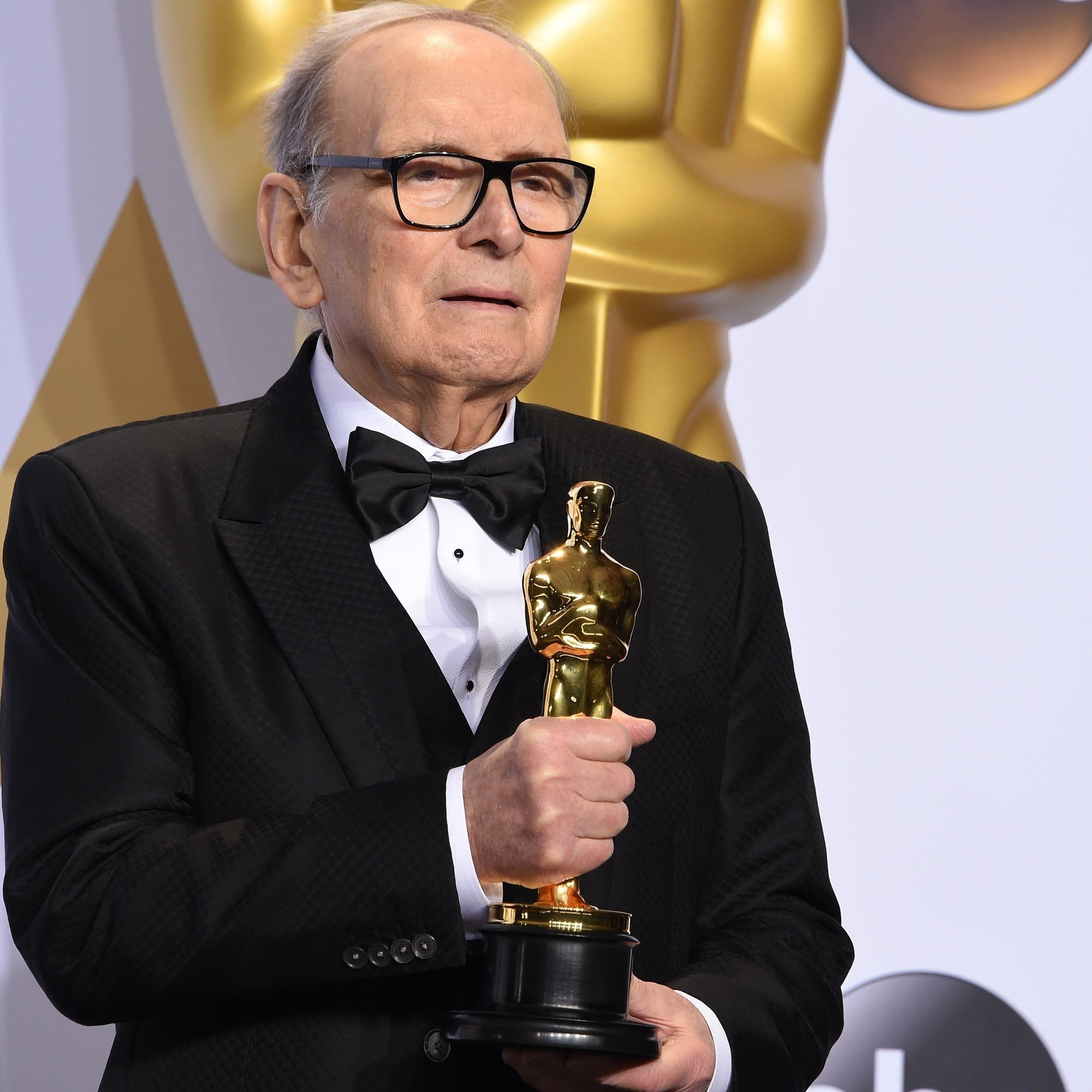 Ennio Morricone at the Oscars in 2016.