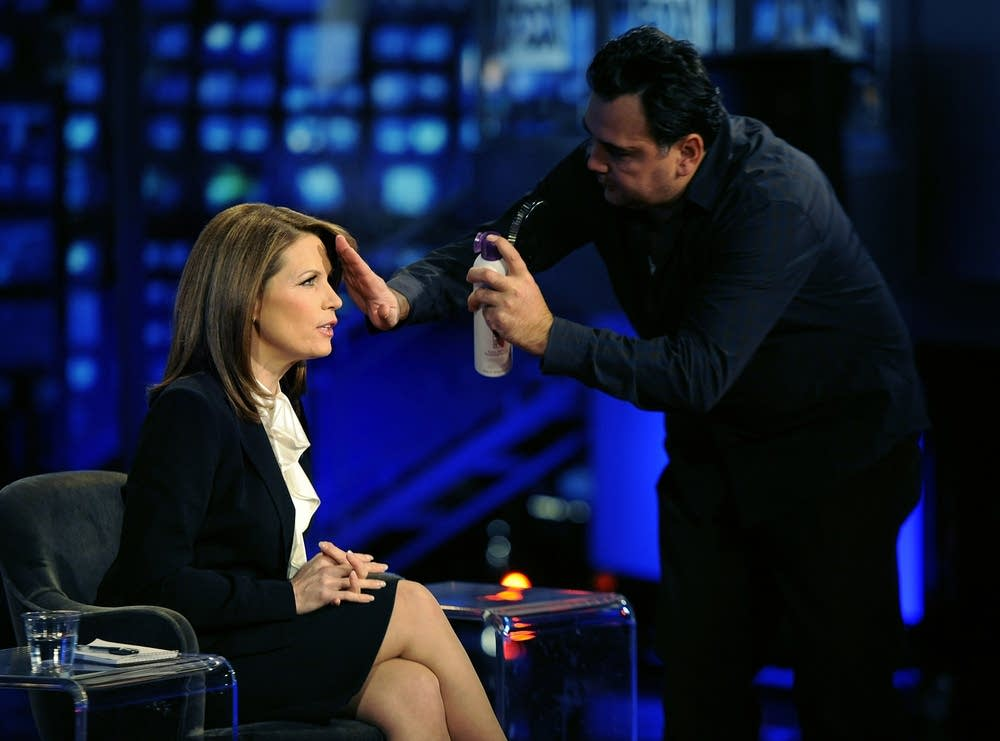 Bachmann off camera at Fox