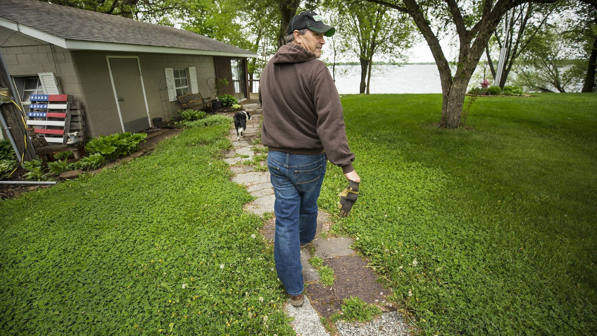Dave Lochen has made changes to his farming practices to protect the lake.