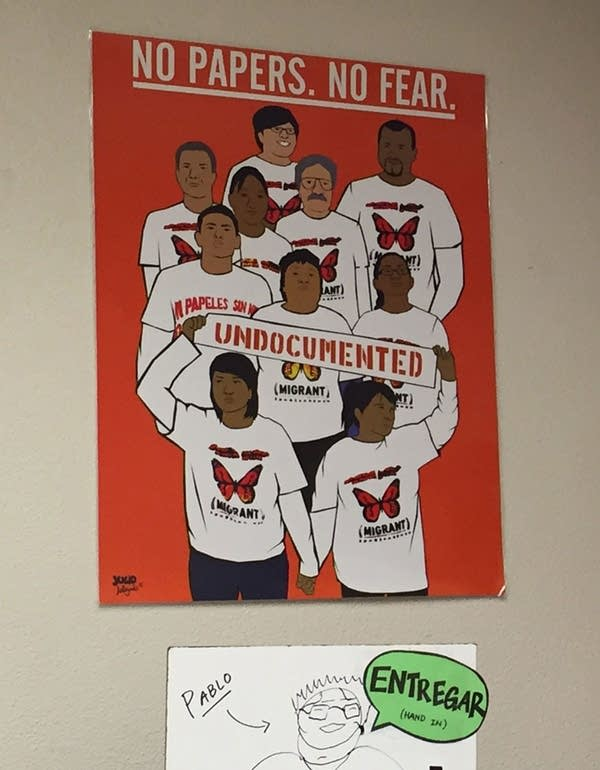 A poster on the classroom's wall