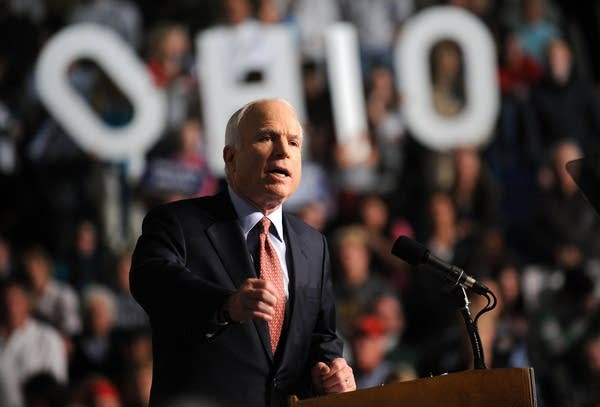 John McCain campaigs in Ohio