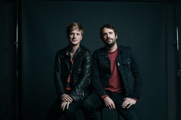 Jack Bevan and Jimmy Smith of Foals, portrait at The Current