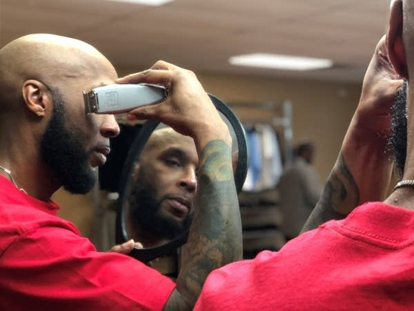 Gilbert Jordan is the lead barber at Barbershop Social Services