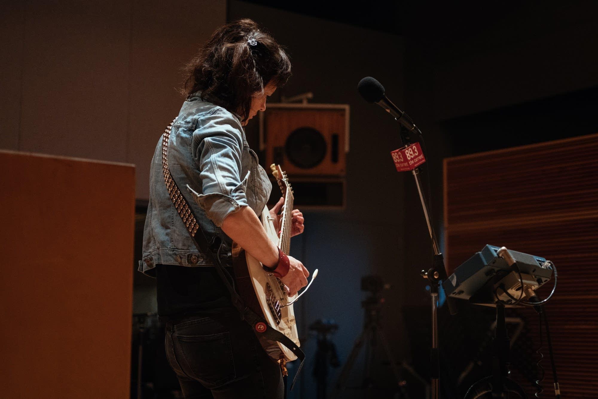 Ex Hex perform in The Current studio