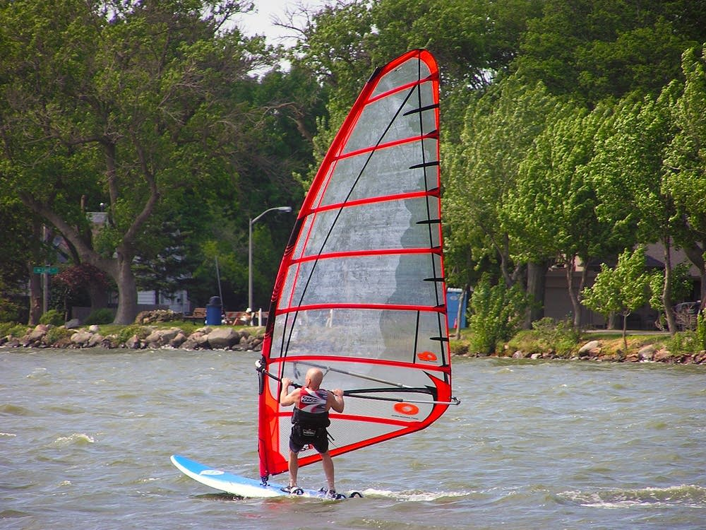Windsurfing regatta