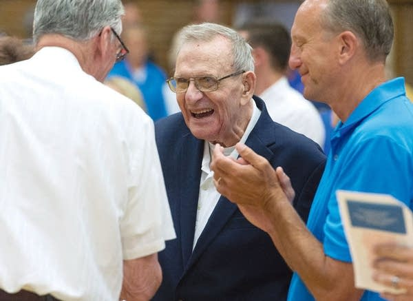 Bob McDonald, a local icon and hall of fame basketball coach from Chisholm