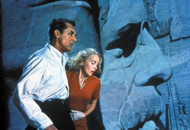 Still of Cary Grant and Eva Marie Saint