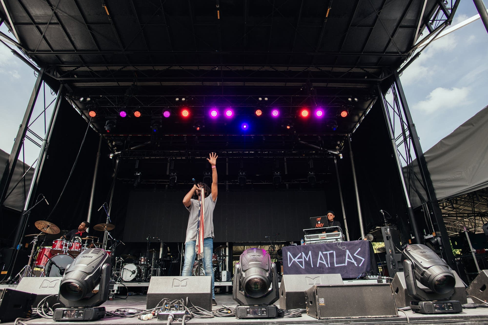 deM atlaS performs at Rock the Garden 2019