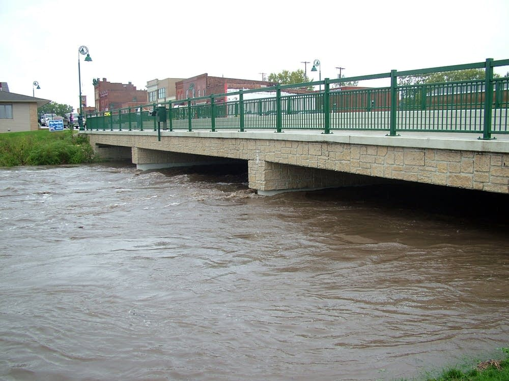 Flooding near bridge