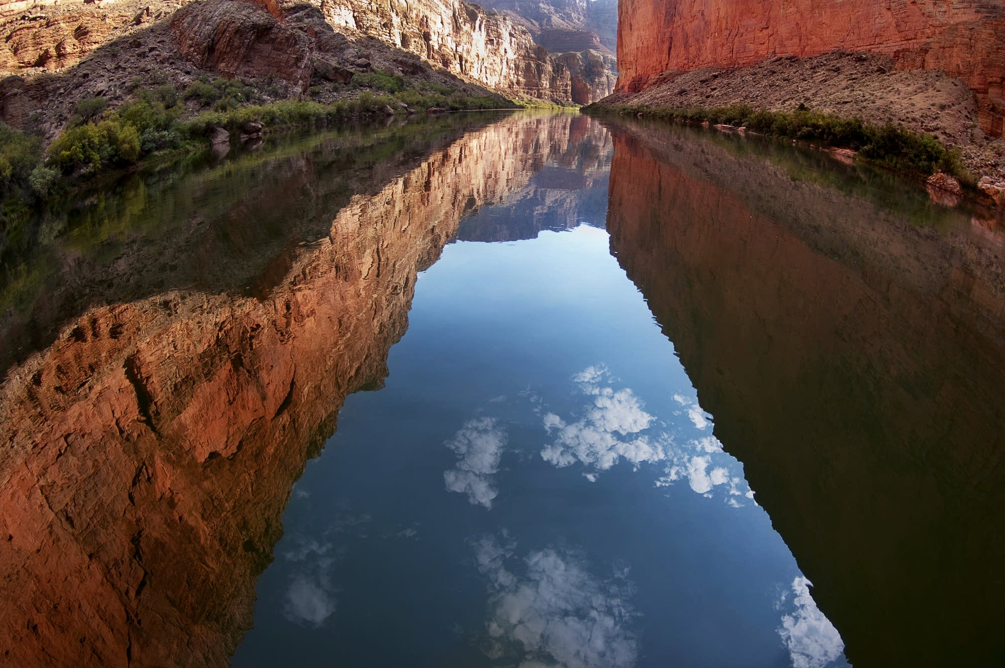 Colorado River flows through Marble Canyon.
