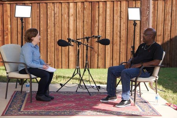 Madeleine Baran interviews Curtis Flowers earlier this month.