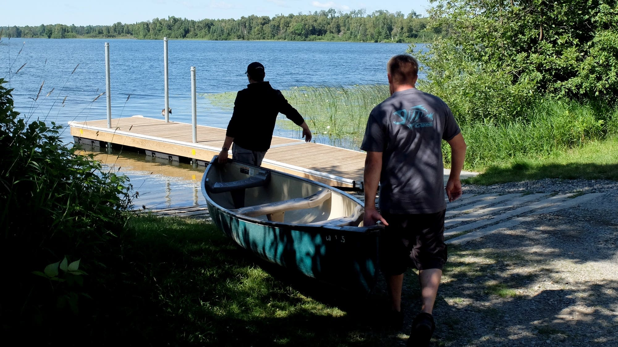 Putting in on Spider Lake in Itasca County, Minn.