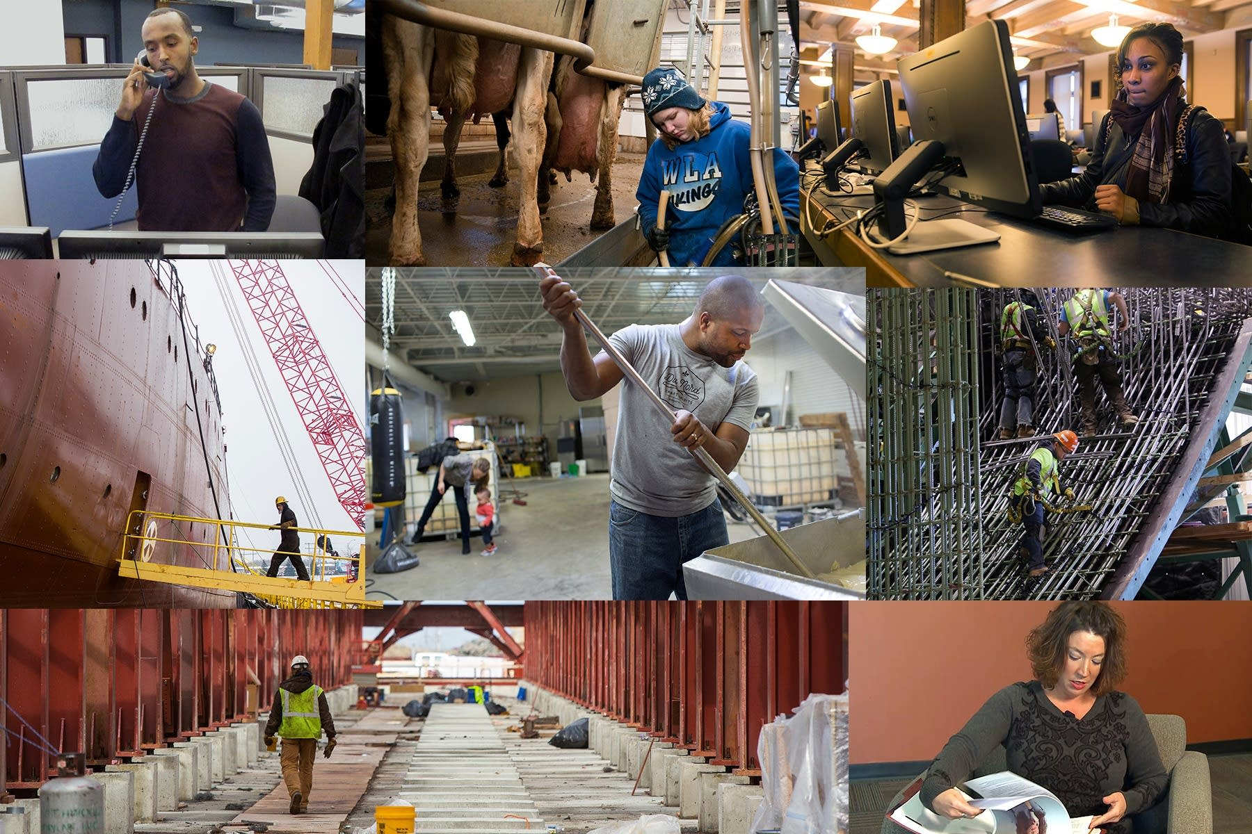 Work collage