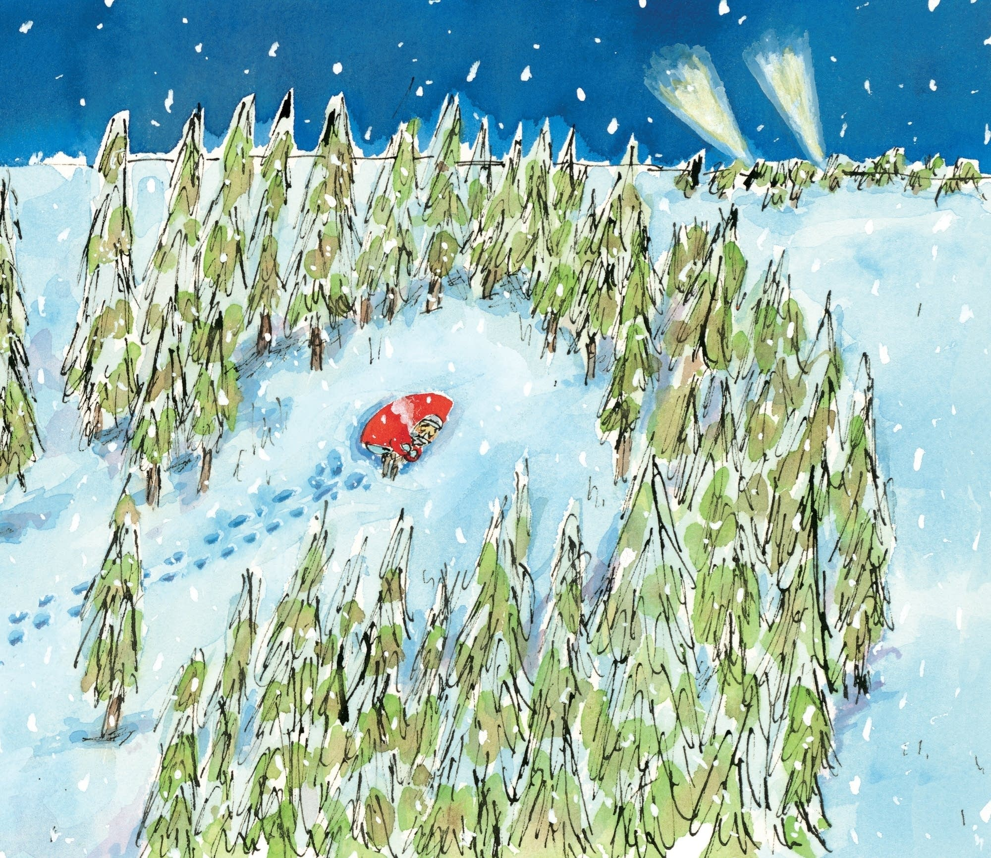A scene from Matthew Cordell's Wolf in the Snow