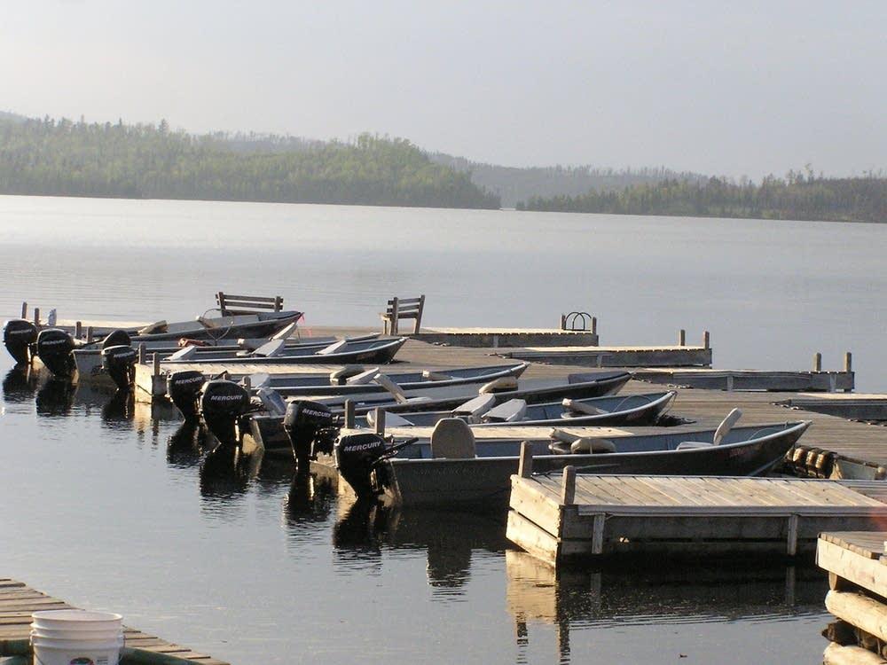Boats on Gunflint Lake