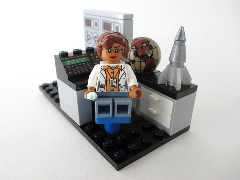 A Lego figure of Katherine Johnson