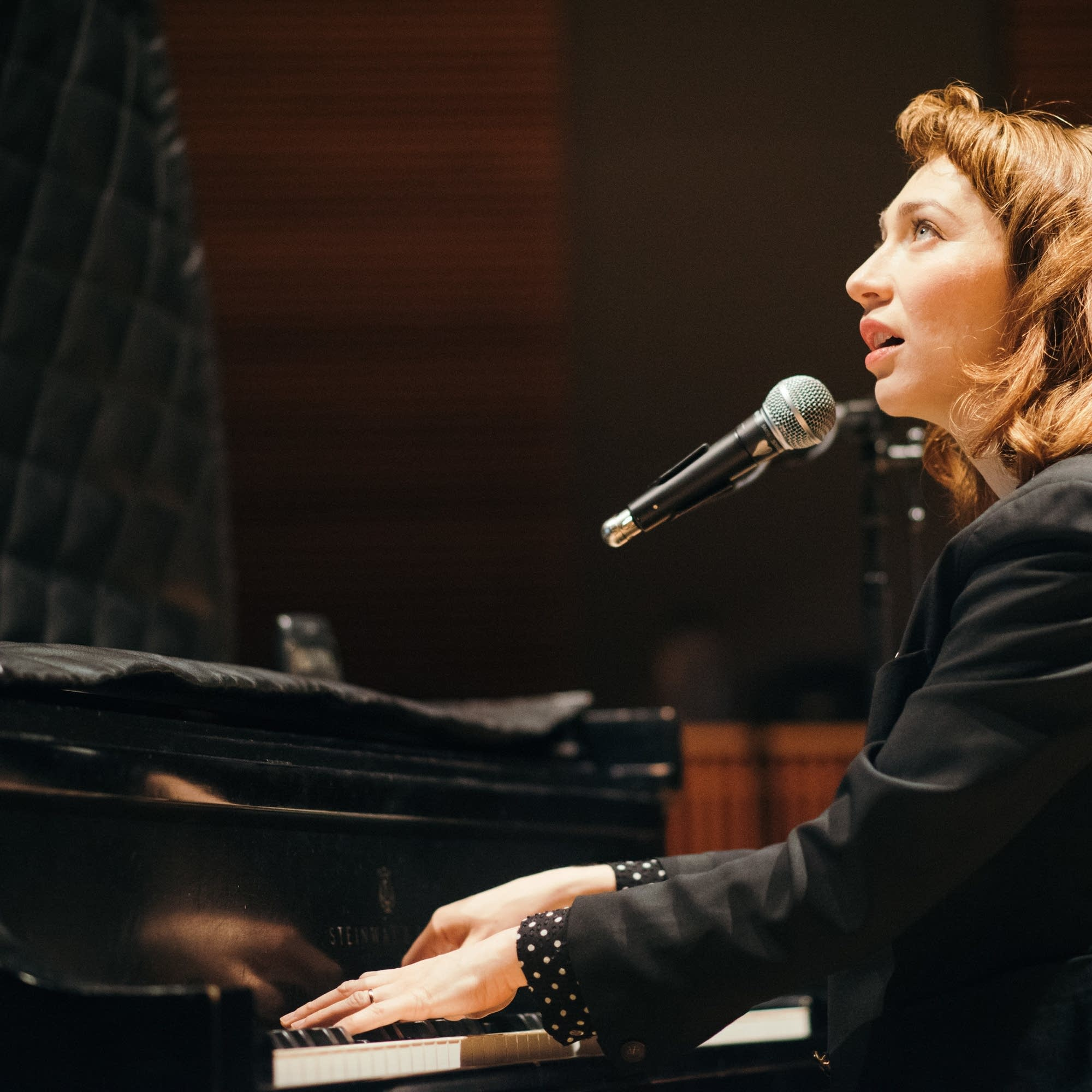 Regina Spektor in The Current studio