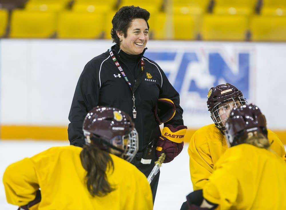 UMD women's hockey coach Shannon Miller