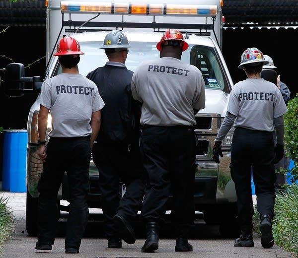 Hazmat workers in Dallas, Texas