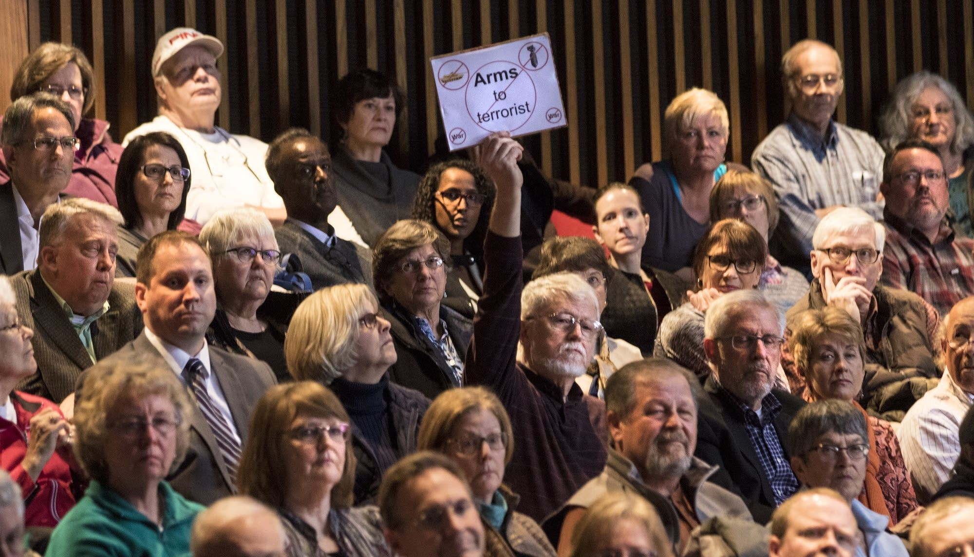 Constituents came prepared with questions and responses for Rep. Tim Walz.