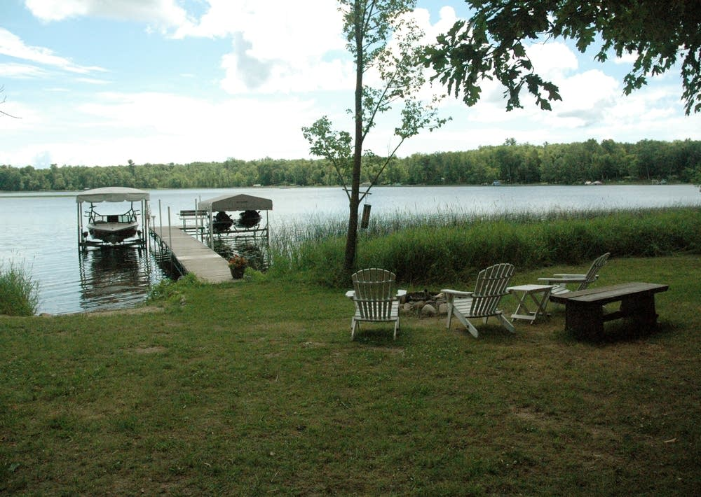 Lake front of a home for sale near Brainerd