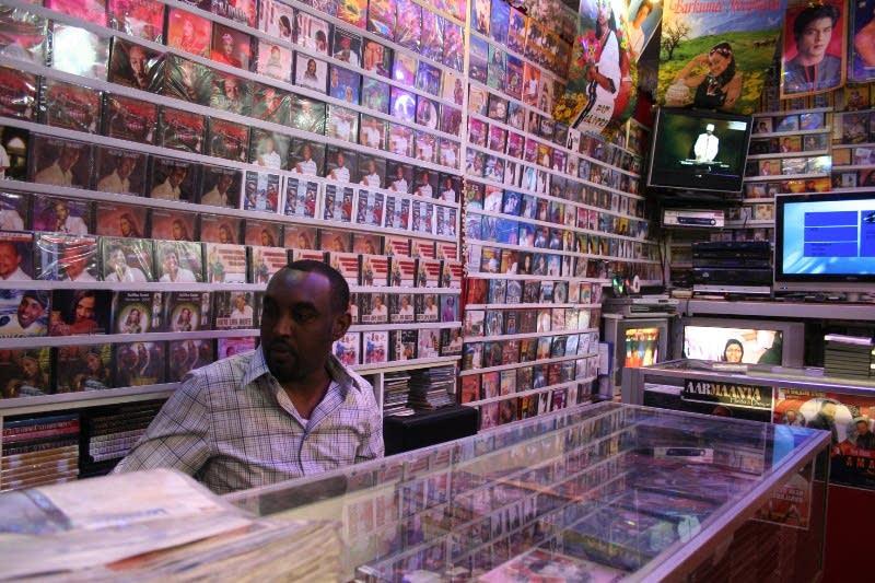 Music store employee Dahir Mohamed