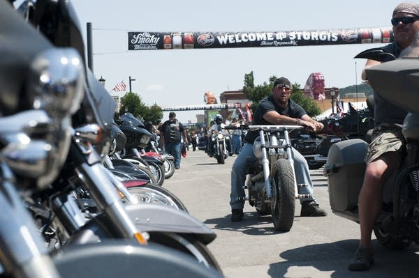 A scene from the Sturgis motorcycle rally