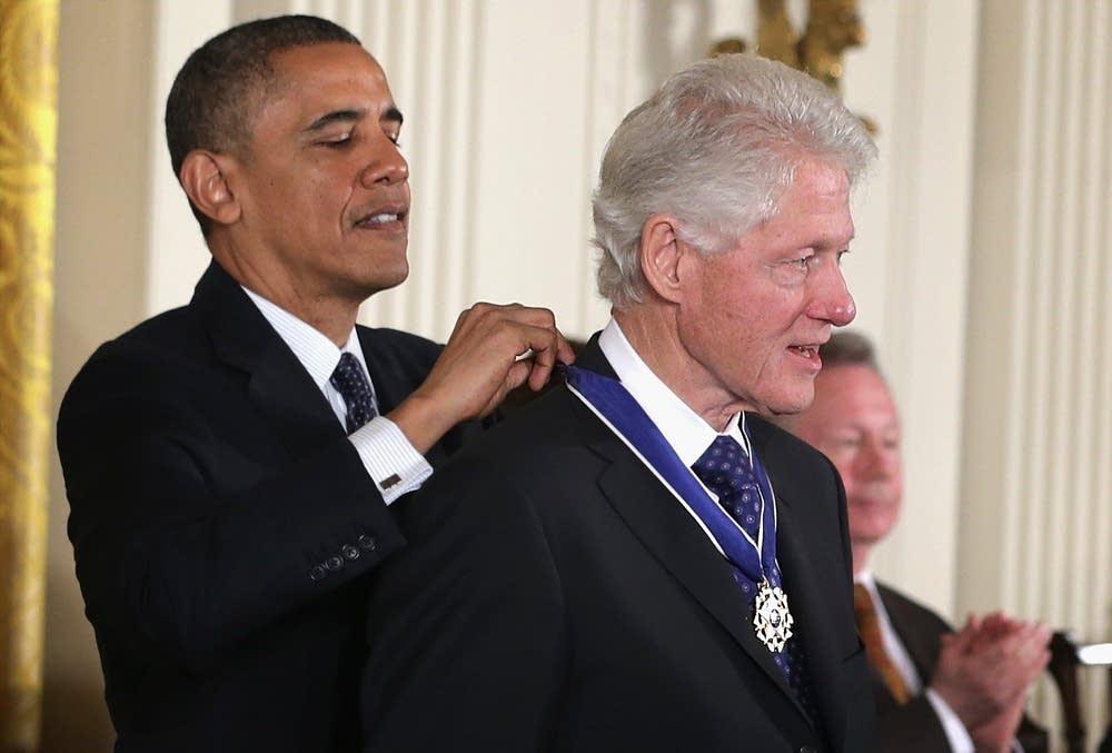 Presidents Obama, Clinton