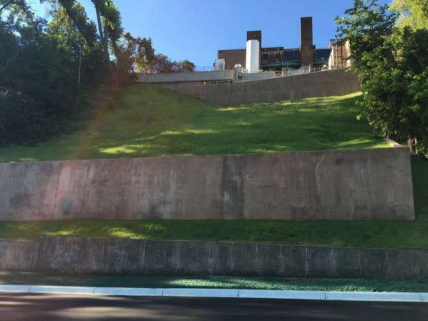 Retaining walls on West River Parkway