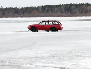 For 10 years, the Cass Lake Lions have taken bets on the car going through.