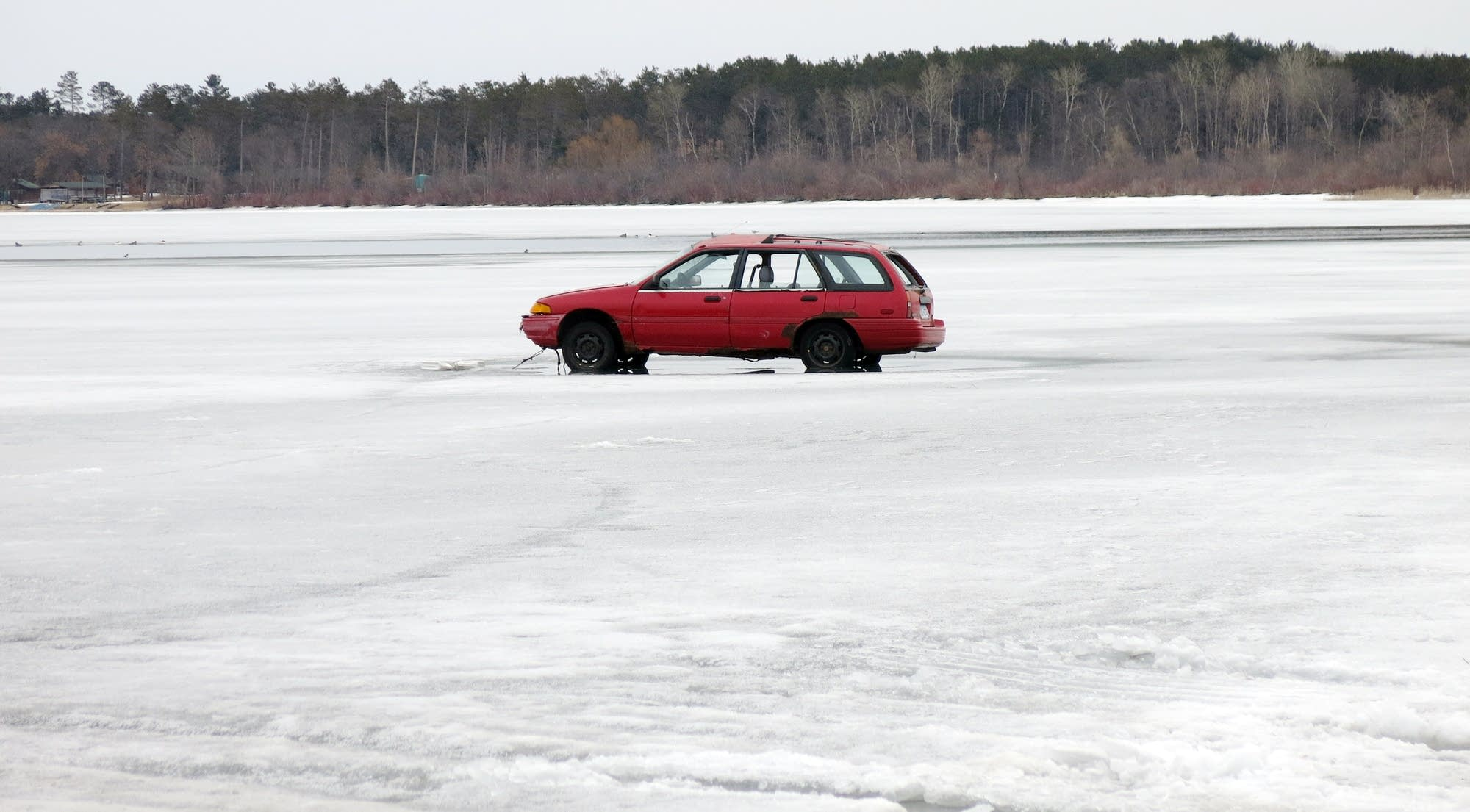 how long will it take for a car to fall through ice make a bet for