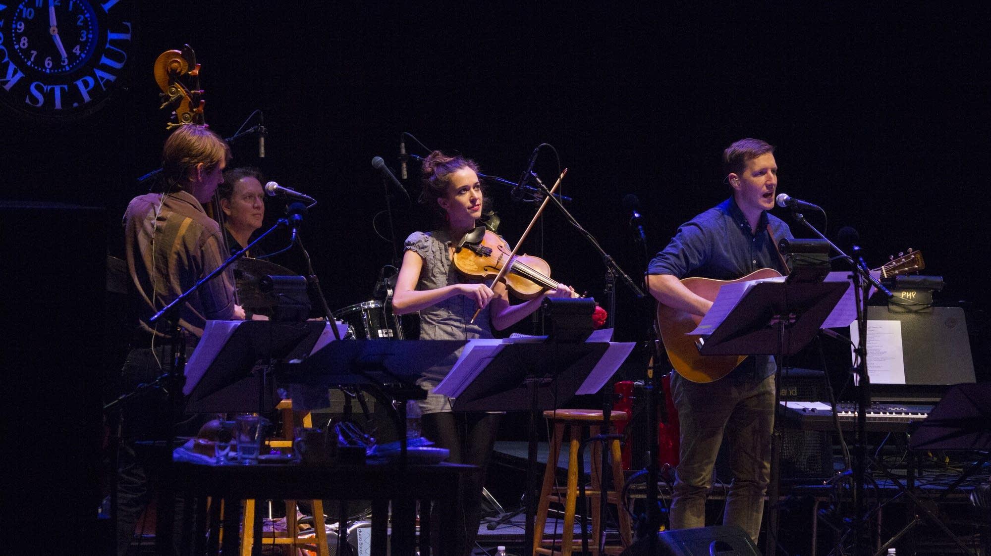 The band: Paul Kowert, Matt Chamberlain, Brittany Haas, and Chris Eldridge.