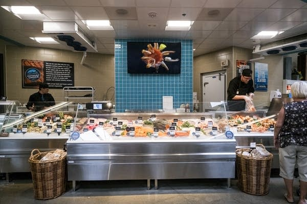 Hy-Vee's seafood counter.