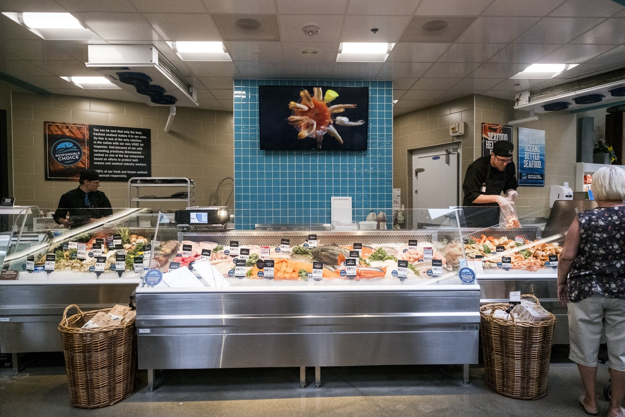 Hy Vees Seafood Counter