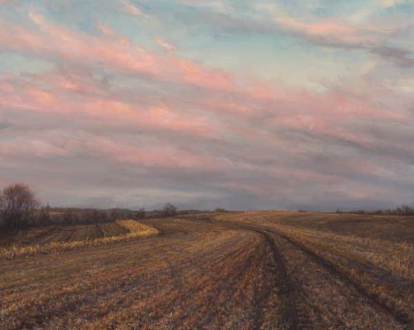 """""""March Fields"""" by artist Hannah C. Heyer."""