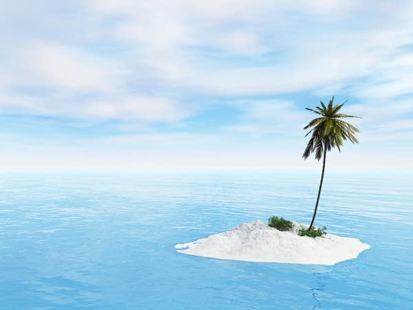 A deserted island (not a desert island)