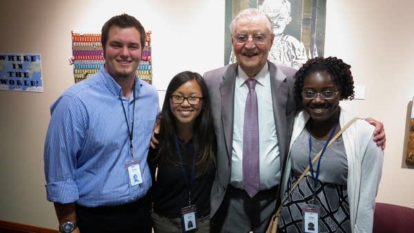 Mondale and interns