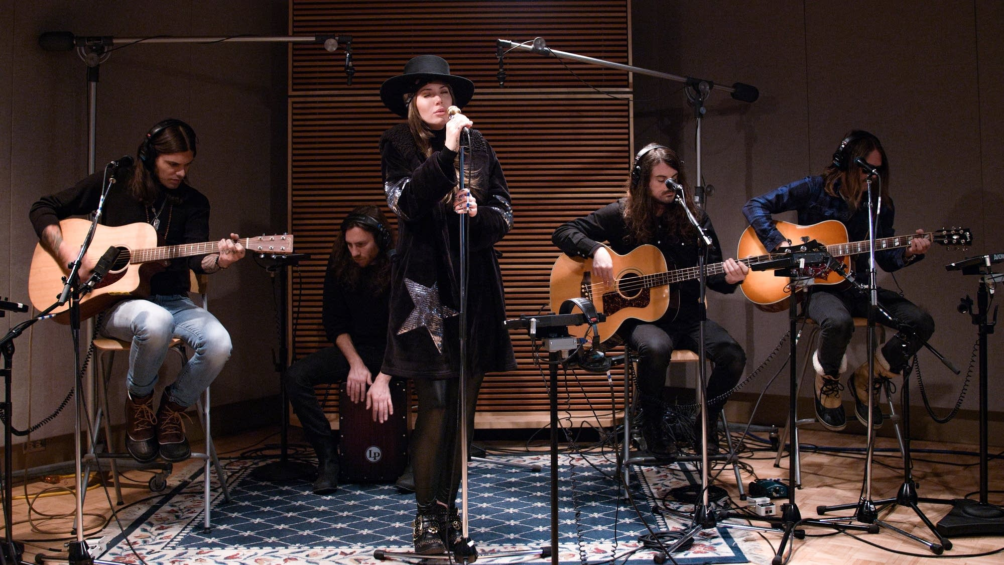 Dorothy perform in The Current studio