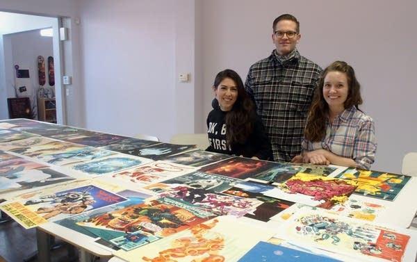 Lindsay Nohl, Chis Hajny and Jenny Bookler