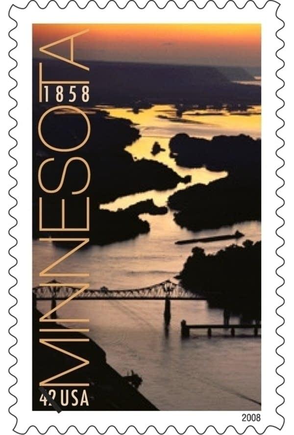 Minnesota 150 stamp